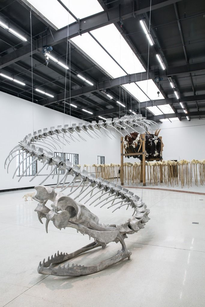 HUANG YONG PING Serpent installation at Red Brick Art Museum September 26, 2015 – February 16, 2016