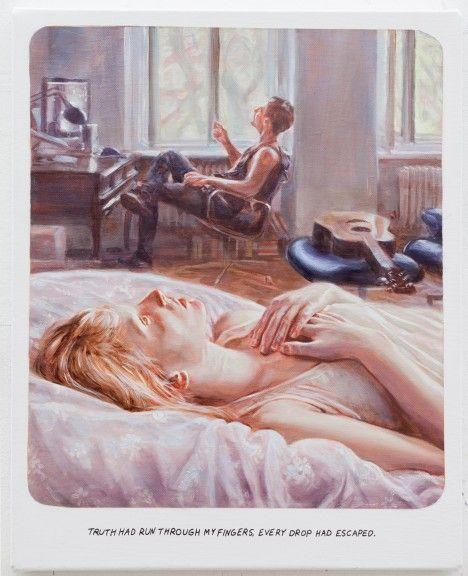 Muntean Rosenblum, Untitled (Truth had run through...), 2013, oil on canvas, 61 x 49 cm