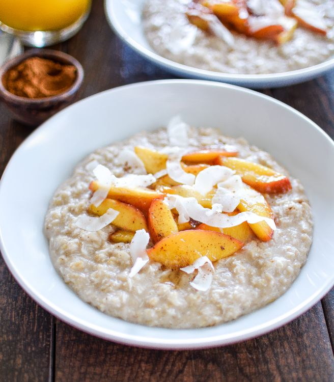 Recipe for Coconut Breakfast Pudding with Sautéed Nectarines: a light ...