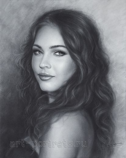 Megan Fox Portrait Drawing