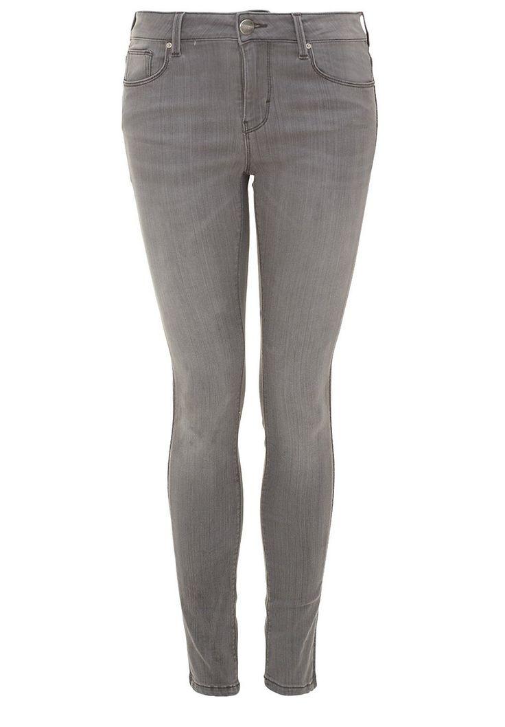 Skinny Jeans mit Metallic-Streifen    Mit seitlich aufgesetzten Streifen aus metallisch glänzendem Gewebe wirkt diese Hallhuber Skinny Jeans cool und stylisch zugleich. Durch den engen Cut werden die Beine zudem raffiniert gestreckt. Die Skinny Jeans ist mit Metallnieten und -knöpfen versehen. Perfekt kombinieren lässt sie sich mit Oversize-Pullovern und trendigen V-Shirts mit Fledermausärmeln....