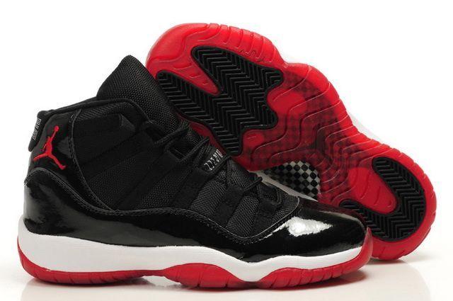 Womens Air Jordan 11 Retro Shoes Black White Red Online  dd21dc60c