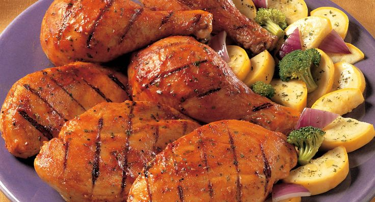Honey Lime Mesquite Chicken: This tantalizing grilled chicken is marinated with sweet, tangy lime and smoky flavors. Serve with grilled vegetables.