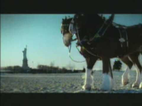 a commercial Budweiser did for 9/11. They only aired it once so as not to benefit financially from it. They wanted to pay tribute to America and it's heroes.