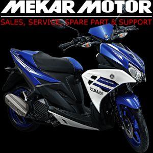 Motor matic Yamaha terbaru yang terinspirasi dari motor balap Moto GP, Yamaha Aerox 125 LC diciptakan dengan paduan sempurna antara gaya balap, performa dan kelincahan berkendara. Dengan mesin 4 stroke berpendingin cairan, SOHC dan kapasitas mesin 125 cc membuat tarikan mesin motor matic Yamaha terbaru ini lebih agresif di kelas nya.