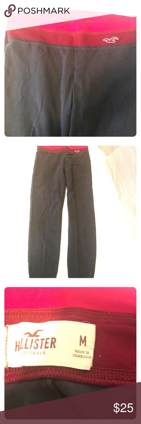 Women's Hollister Leggings, size M, in Gray Women's Hollister Leggings, size M, in Gray. Worn and washed but still in great condition. The pink band at the top is so cute, and the Hollister bird logo is featured near the waistband. Still have good stretch to them and look great! Please feel free to ask questions, thanks!! Hollister Pants Leggings