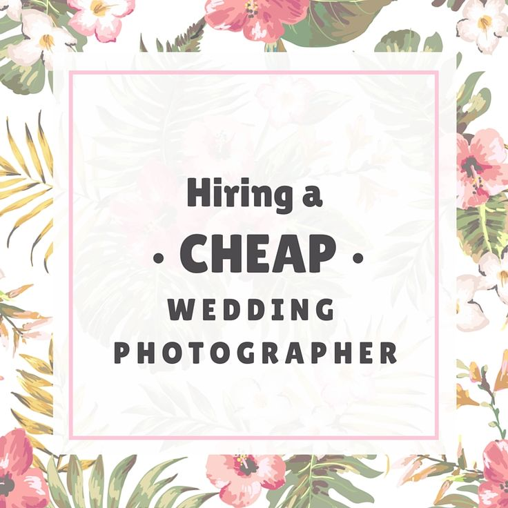 Hiring a Cheap Wedding Photographer If you are a friend or client of mine you probably notice that I am always an advocate of quality and sustainability. This is because I often hear of complaints from couples regarding their final photographs when they hired an amateur wedding…