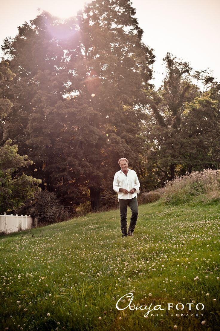 Armand Assante at his farm in Upstate New York 2009