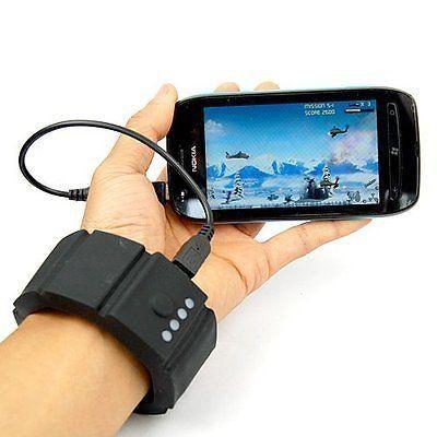#TONGROU Wrist Band Gadget USB External Battery Charger Power Bank For Cell Phone PSP