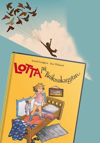 """Lotta i """"Lotta på Bråkmakargatan"""" av Astrid Lindgren."""