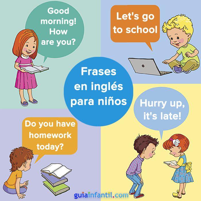 Aprende inglés con los niños practicando estas sencillas frases. http://www.guiainfantil.com/articulos/educacion/idiomas/ingles-en-familia-frases-para-practicar-con-los-ninos/