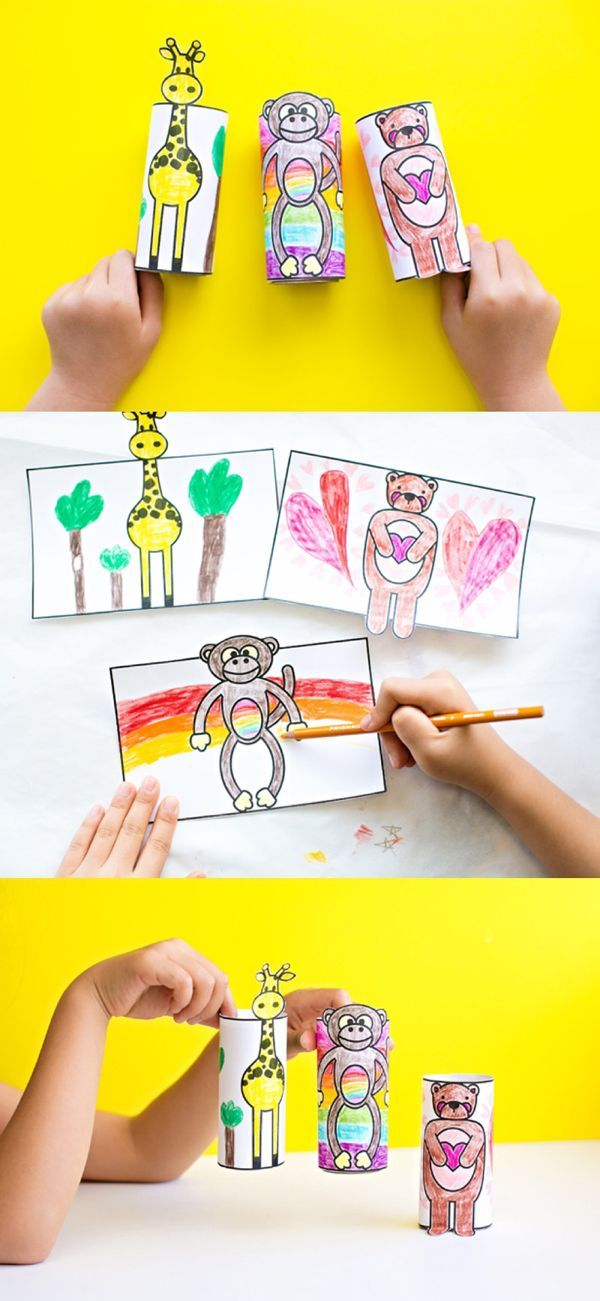 Animal Coloring Paper Tube Free Printables. These adorable free printable coloring pages for kids turn into fun paper tube toys that will delight them in endless pretend play!