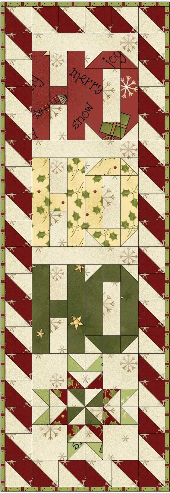 Free Quilt Pattern: Jolly Greeting
