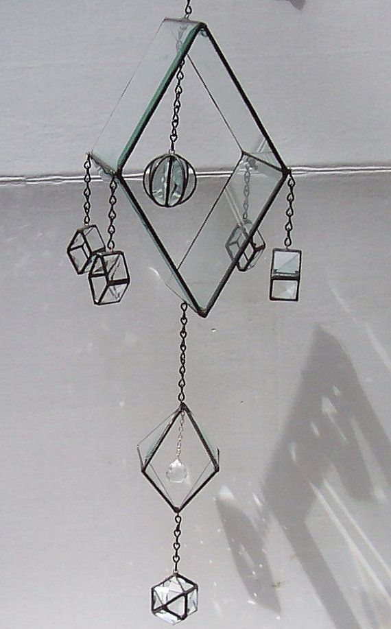 Beveled Stained Glass Himmeli Geometric by Suncatchercreations