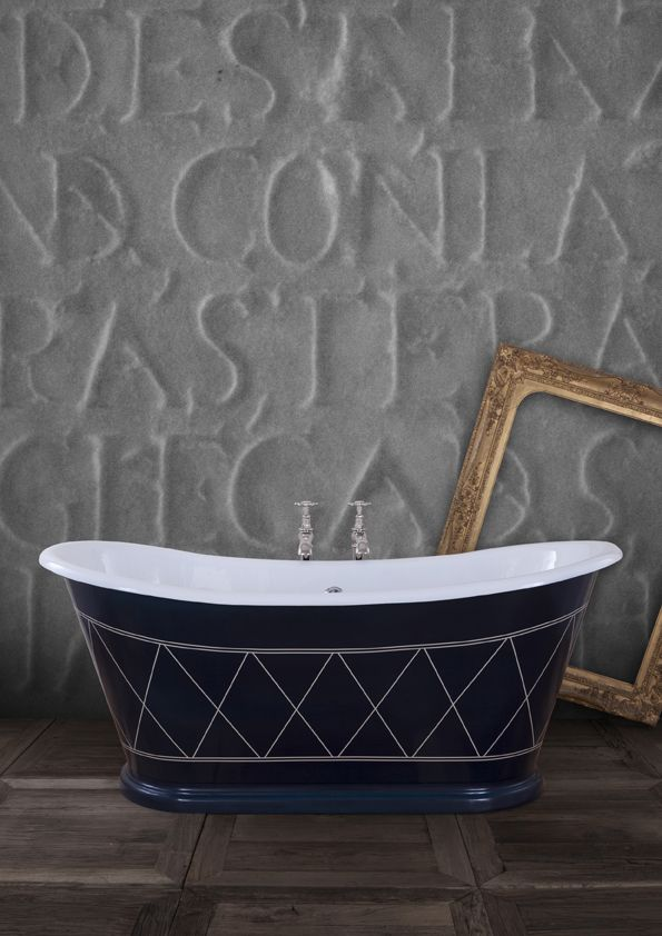 Dark, brooding and perfect for #Halloween (or at any time of the year) the Caravel Bateau is inspired by old boat baths and its deep proportions are just waiting to swallow you up… in a good way of course! #Baths #Bathroom #Home #Decor #Style #CastIron #Bespoke #Luxury #Halloween