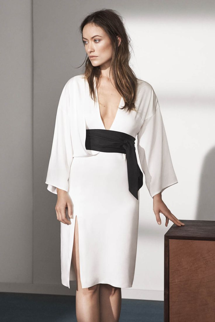 HM Conscious Exclusive Sustainable Fashion Olivia Wilde Dress in Tencel