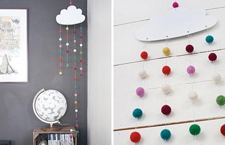 DIY Cloud mobile by Pysselbolaget