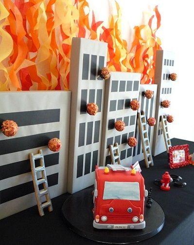 Ideas fáciles para celebrar un cumpleaños infantil de bomberos