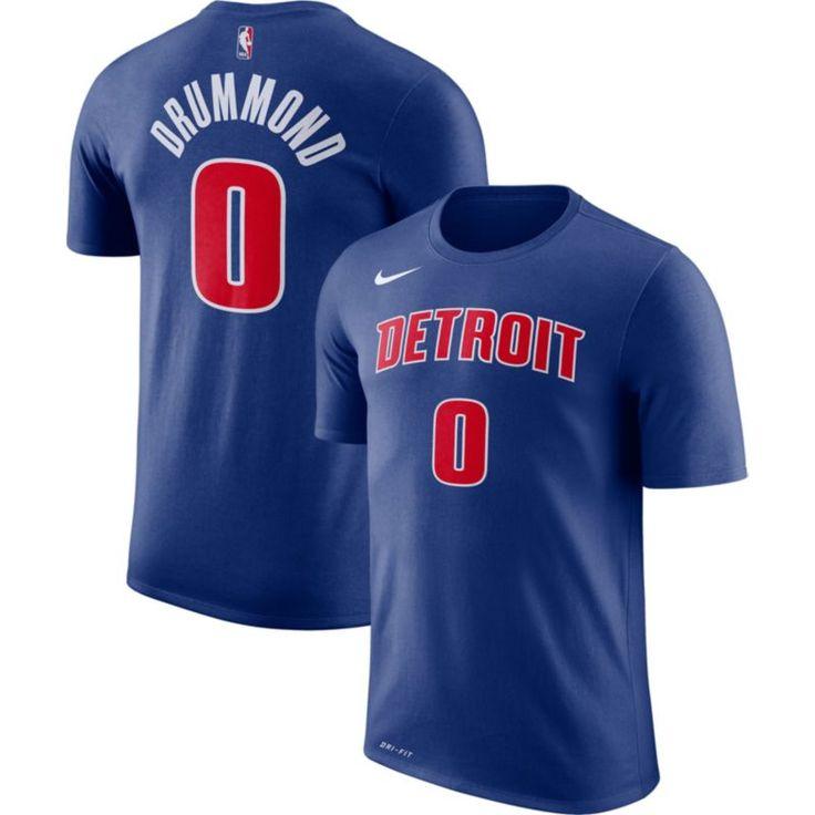 Nike Youth Detroit Pistons Andre Drummond #0 Dri-FIT Royal T-Shirt, Size: Medium, Team