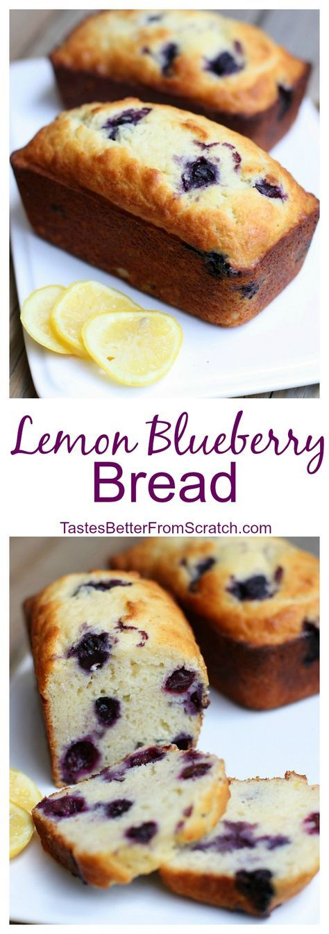 Perfect Lemon Blueberry Sweet Bread on TastesBetterFromScratch.com