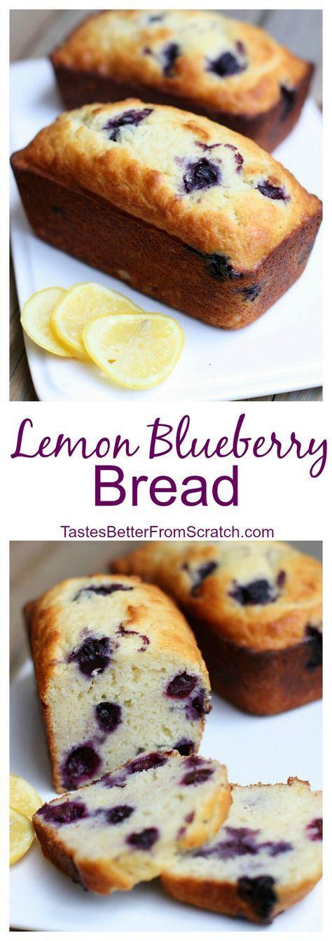 Perfect Lemon Blueberry Sweet Bread on TastesBetterFromScratch.com