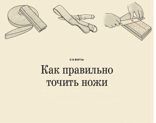 Рекомендации по заточке ножей