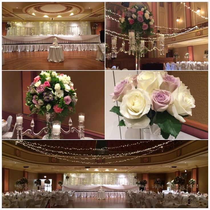 Chris and Sophie's wedding, just stunning at Newcastle City Hall #wedding #glass #candelabras #crystal