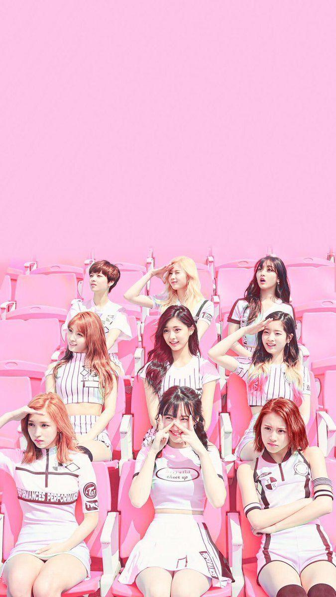 pink TWICE wallpaper Kpop wallpaper, Twice kpop, Kpop