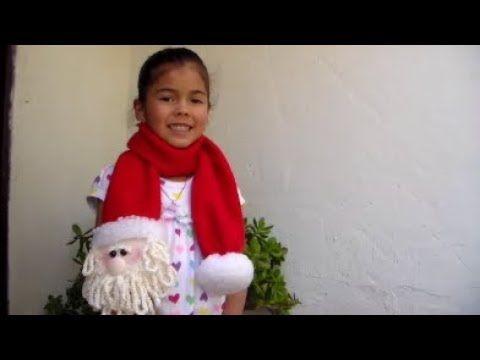 Bufanda Navideña Santa Claus - YouTube