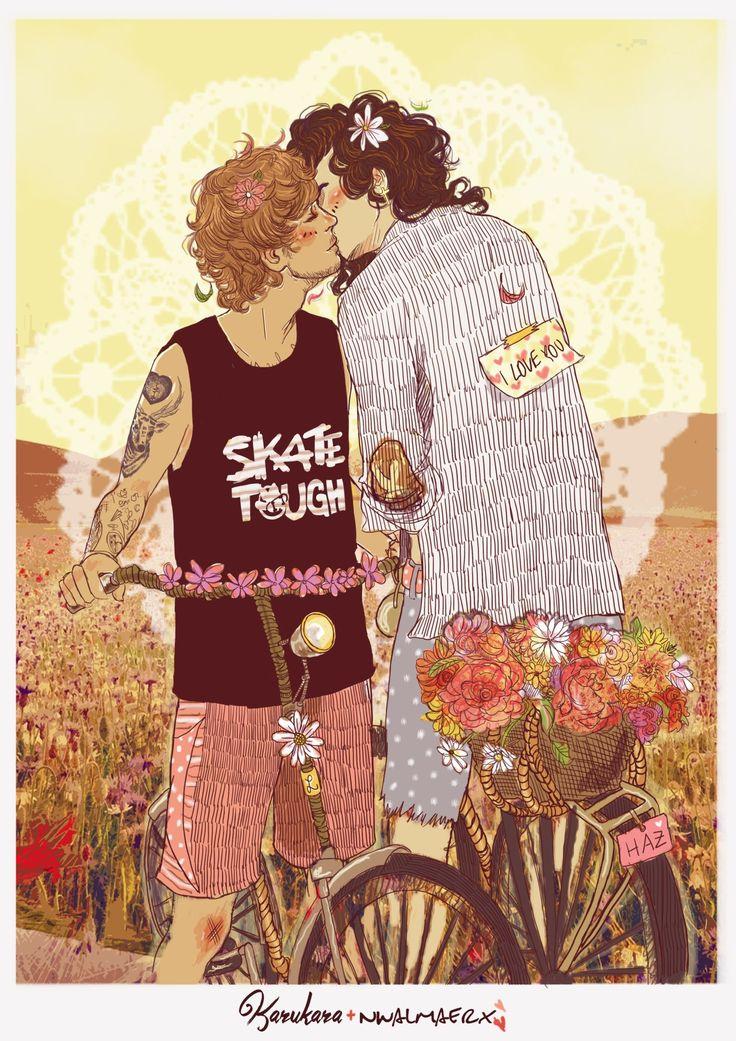 Flower Child!Harry & Flower Child! Louis, perhaps