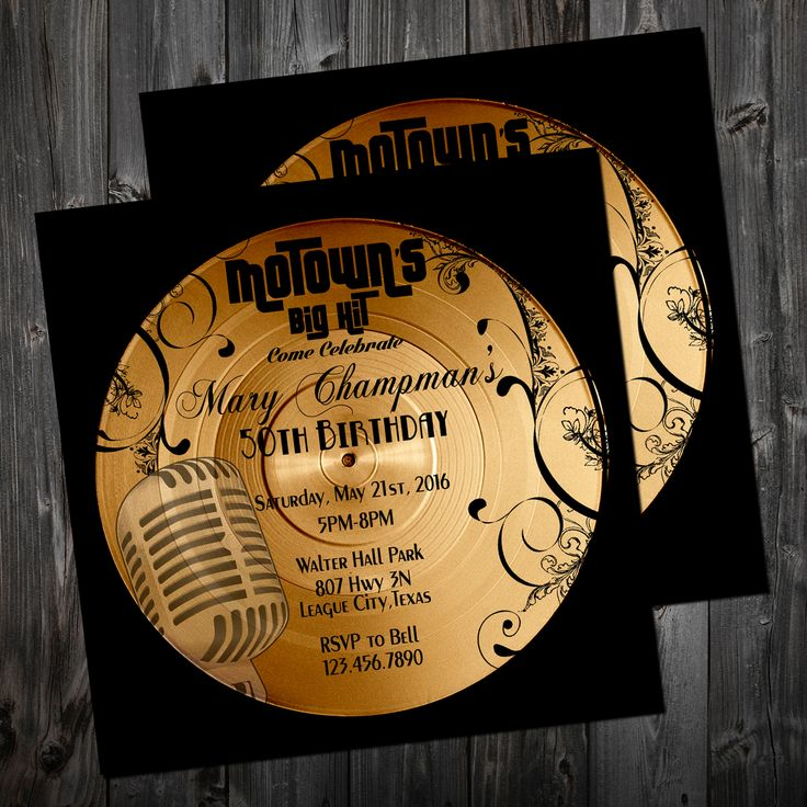 Motown Invitation 5x5 … | Pinteres…
