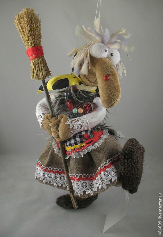 "Баба-Яга ""Веселушка"" (БРОНЬ) - коричневый,баба-яга,баба яга,избушка на курьих ножках"
