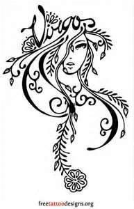 Virgo tattoo (wouldn't get this, but would be cool to paint on cavas and hang in my room)