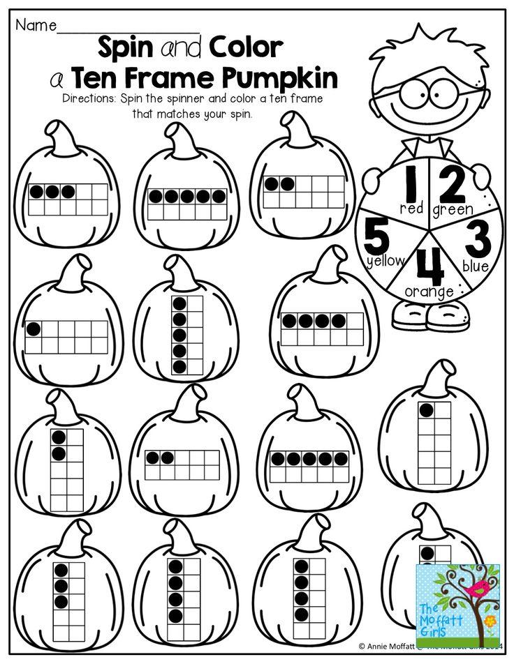 186 best Number sense images on Pinterest Teaching math - ten frame template