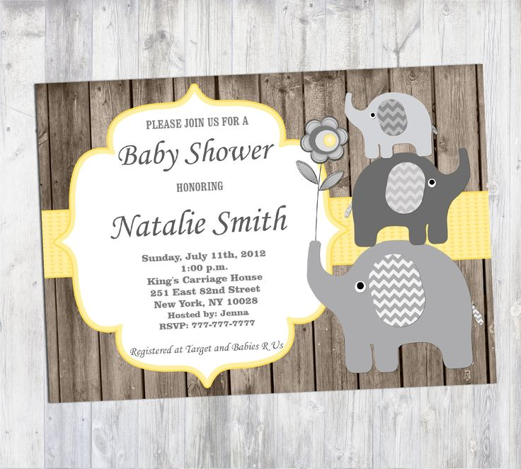 baby shower invitation wording for bringing diapers%0A Baby Shower Invitation Boy Rustic Elephant Baby Shower Invites Printable Baby  Shower Invitation Yellow  FREE