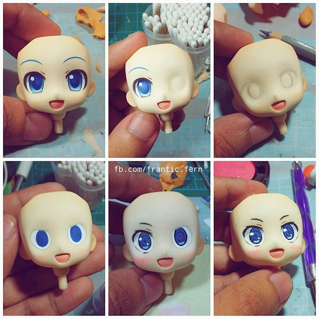 Nendoroid Face-up Ive done, do you want a tutorial for this?? :3 #diy #hestia…
