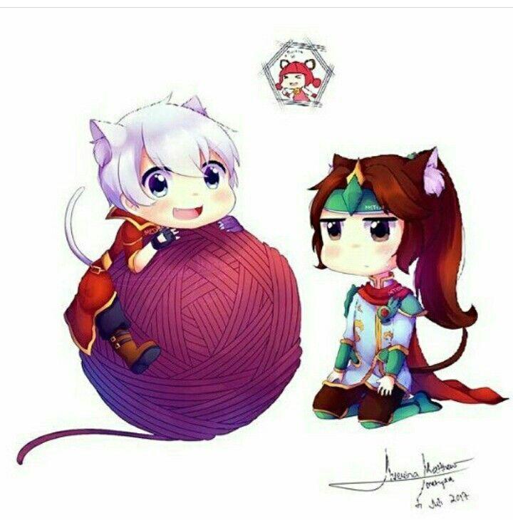 Alucard and Zhao Yun Become Kittens XD (Nana Curse of Cross XD)
