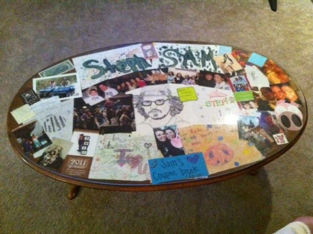 Coffee Table Cover Ideas this makes it cozy and it might only be a throw or a cushion cover which Old Coffee Table Cover The Table With Pictures And Notes And Cover With Glass