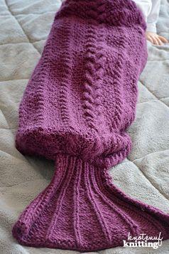 Knitting Pattern Ariel Mermaid Tail Blanket Mermaids