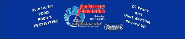 celebrate their 25th Anniversary May 10 and they're inviting the Humble, Atascocita, Kingwood, Texas community to come help them celebrate! For more information visit, http://www.beckwiths.com/
