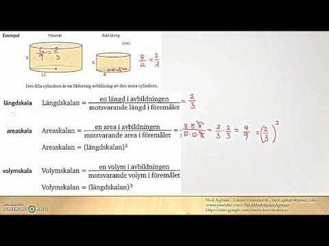 Matematik 5000 2bc VUX - Kapitel 3 - Likformighet - Area- och volymskala...