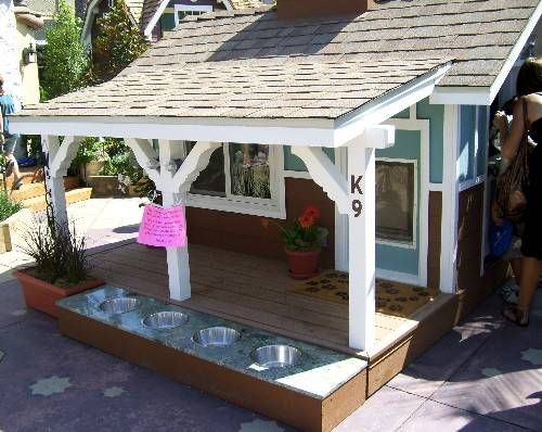 Something like this, but modified for kids (vs dogs) would be great. Maybe a sand/water table built in even.