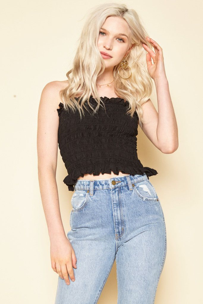 Black Smocked Top from Prism Boutique