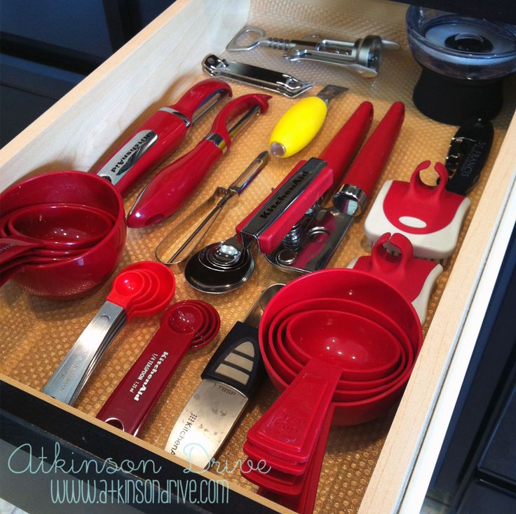 No skid drawer organization utensilios de cocina for Utensilios de cocina kitchen