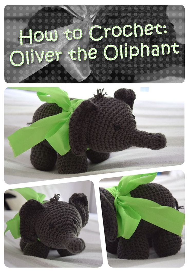 How to #Crochet Oliver the elephant - I really want to try one of these!