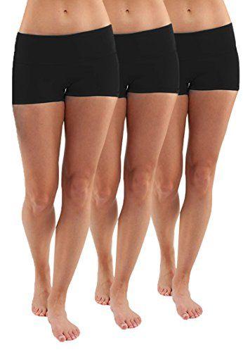 3X Shorts de Running Femme Noir Pantacourt Culotte Shorts Jupe Robe Tunique  Sport Vélo Gym sous-VetementsL  53e62027d70