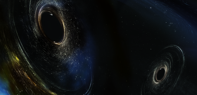 LIGO detects more gravitational waves, from even more ancient and distant black hole collisions    Artist's conception of two merging black holes, spinning in a nonaligned fashion.   #Astrophysics #General Relativity #Gravitational wave discovery #Gravitational Waves #LIGO #Theory of General Relativity #Waves
