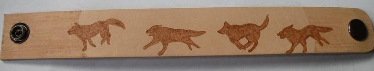 Wolfs Rain inspired leather bracelet by weisewoelfin.deviantart.com on @DeviantArt