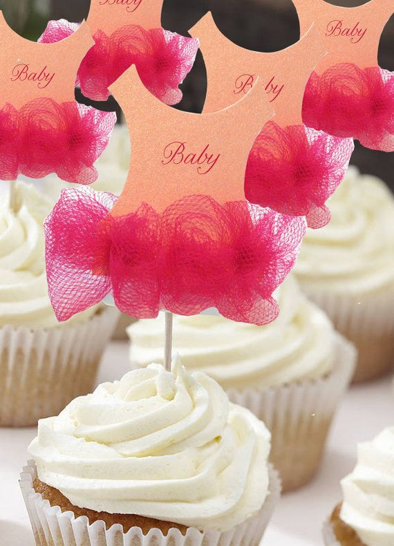 Set of 25 Tutu Baby shower cupcake toppers Tutu Baby by anaderoux