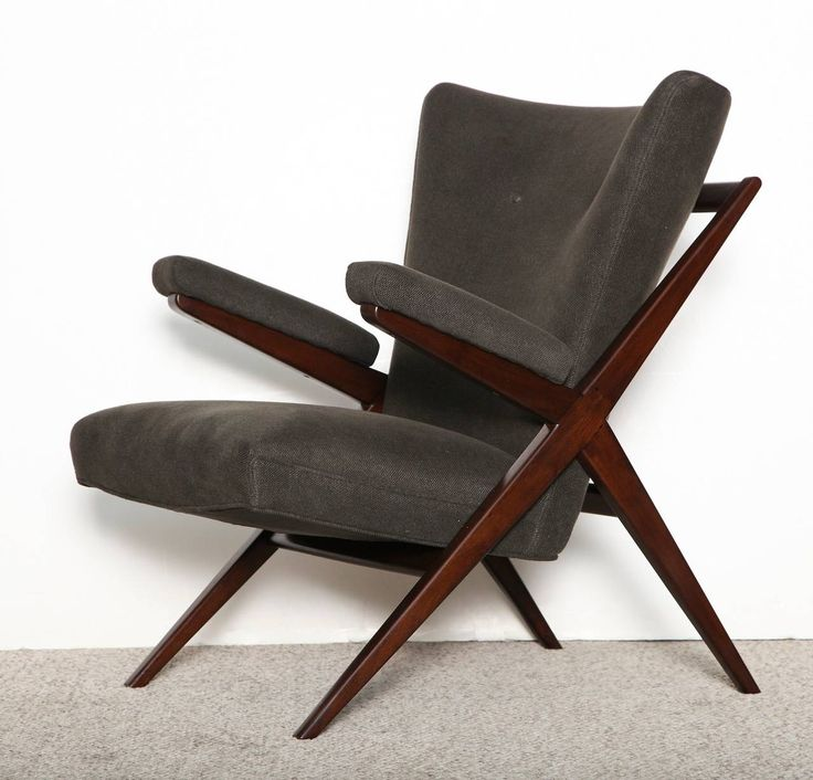 Rare Pair of Lounge Chairs, Model No. CA832 by Franco Albini | From a unique collection of antique and modern lounge chairs at https://www.1stdibs.com/furniture/seating/lounge-chairs/